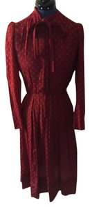 Maroon silk Nipon shirt dress Dress