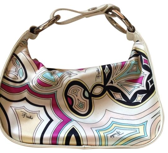 Preload https://item1.tradesy.com/images/emilio-pucci-multicolor-classic-print-satin-and-white-leather-hobo-bag-10434010-0-1.jpg?width=440&height=440