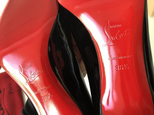 Christian Louboutin Patent Leather Leather Patent Heels Simple Black Pumps