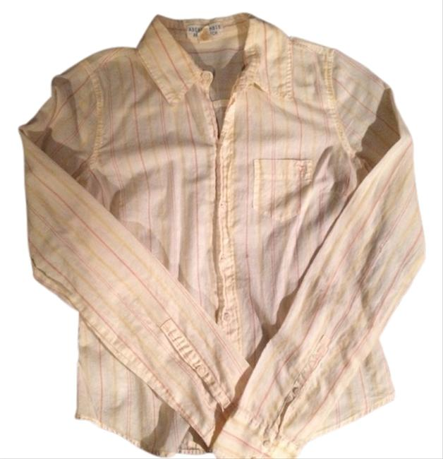 Abercrombie & Fitch Abercrombieandfitch A&f Aeropostale Oldnavy Hollister Soft Summer Spring Fall Yellow Likenew Ralphlauren Polo Button Down Shirt