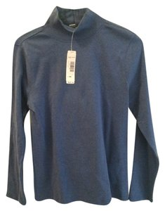 Pendleton Mock Turtleneck Long Sleeves T Shirt denim blue