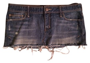Abercrombie & Fitch A&f Micro-mini Mini Ultra Mini Distressed Fringe Hem Oldnavy Aeropostale Hollister Gap Truereligion Summer Spring Fall Mini Skirt Denim