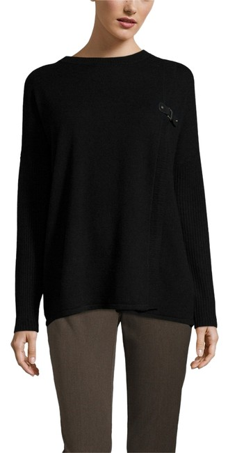 Preload https://item4.tradesy.com/images/black-buckle-trim-boatneck-sweaterpullover-size-0-xs-10434298-0-1.jpg?width=400&height=650