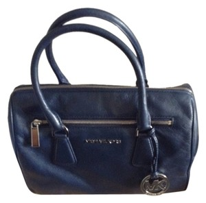 Michael Kors Satchel in Navy silver hardware