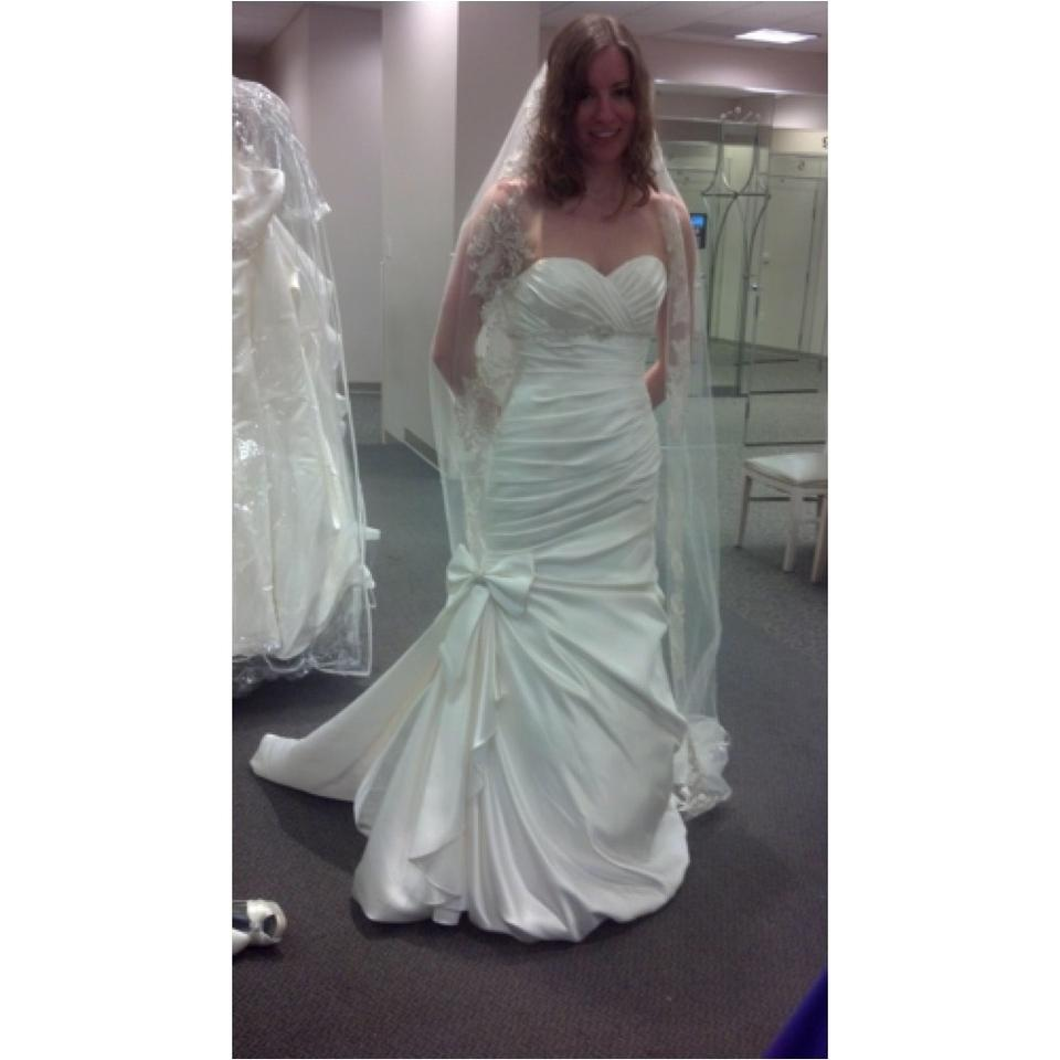 David 39 S Bridal Ivory Satin Strapless Mermaid Gown Sexy