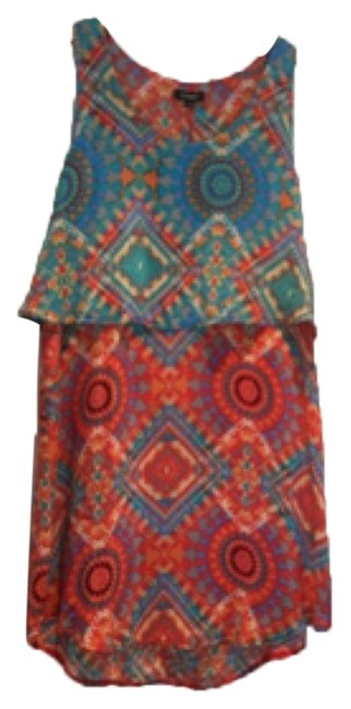 Preload https://item1.tradesy.com/images/tolani-teal-and-orange-print-above-knee-short-casual-dress-size-12-l-10434850-0-1.jpg?width=400&height=650