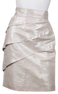 Fendi Mini Skirt Gold