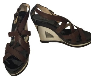 Michael Kors Metalic Wedge Gold Brown/Gold Wedges
