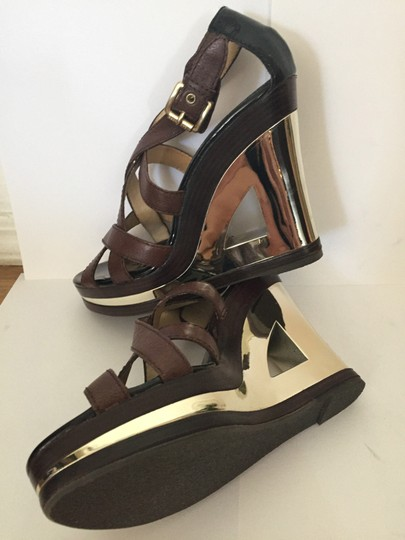 Michael Kors Metalic Brown/Gold Wedges