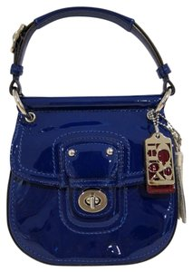 Coach Mini Willis Patent Blue Patent Cross Body Bag