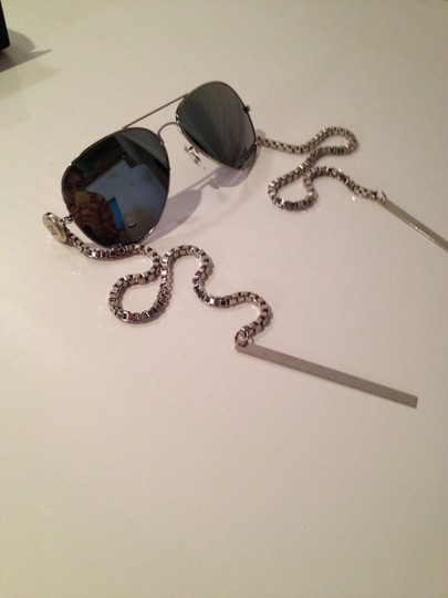 Other Gomer Silver Bar Mirrored Sunglasses