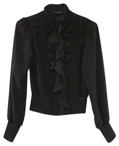 Express Ruffled Top Black