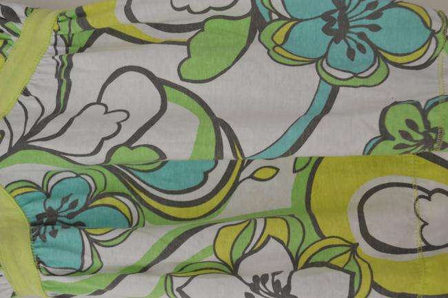 Other 60s' Retro Top Green & Blue Floral