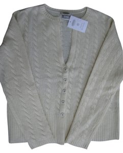 Talbots Cable Button-down V-neck Sweater