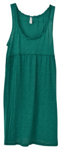 Anthropologie short dress Jade Green Ruffled Empire Waist on Tradesy