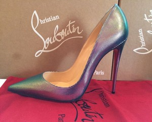 Christian Louboutin Stiletto Heels So Kate Size 36 So Kate Silver Pumps