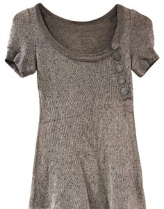 Anthropologie Top Grey/Black Marled