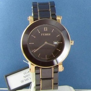 Fendi Fendi F684120 Brown Ceramic Rose Tone Swiss Quartz 38mm Watch