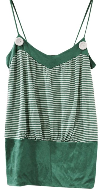 Preload https://img-static.tradesy.com/item/1043699/anthropologie-greenwhite-stripe-and-tank-topcami-size-2-xs-0-2-650-650.jpg