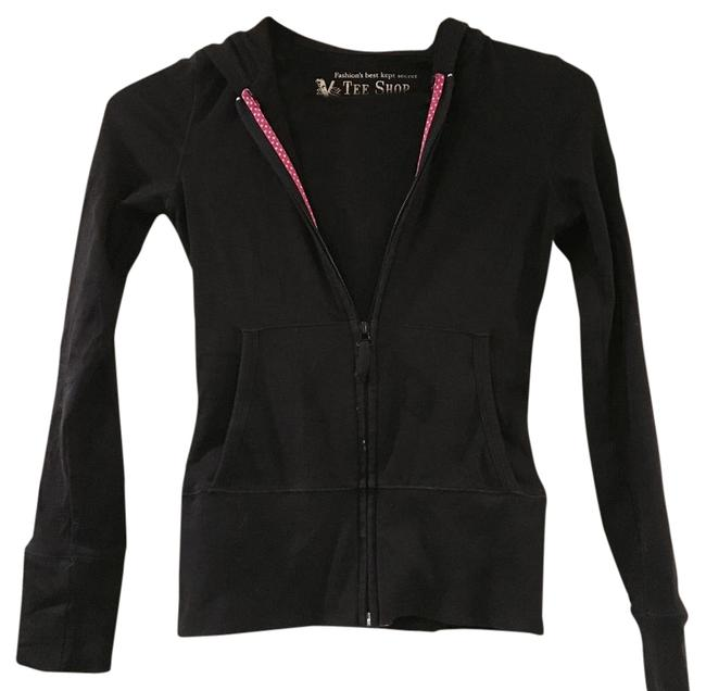 Preload https://img-static.tradesy.com/item/1043707/victoria-s-secret-black-sweatshirthoodie-size-2-xs-0-2-650-650.jpg