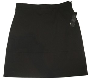 Theory Mini A-line Wool Blend Mini Skirt Brown