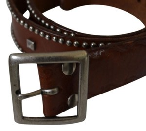 Vintage Leather Studded Belt