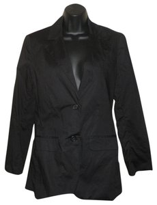 A.B.S. by Allen Schwartz Cotton Machine Washable Black Blazer