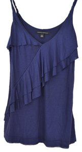Banana Republic Ruffled Top Navy Blue