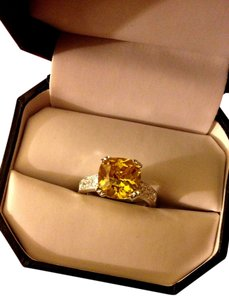 ICE Solitaire Citrine 925 Sterling Silver