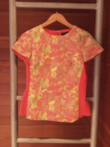 Ted Baker Top Deep Coral Floral