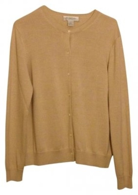 Preload https://item4.tradesy.com/images/brooks-brothers-buff-tan-very-nice-on-cardigan-size-12-l-10438-0-0.jpg?width=400&height=650