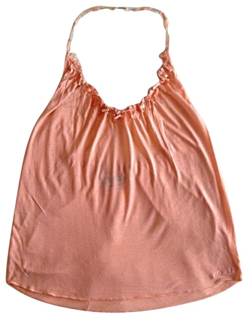 Miss Sixty Beads Peach Halter Top