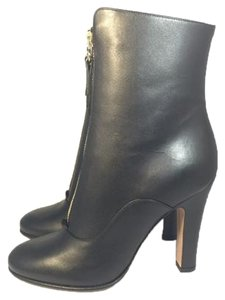 Valentino Leather Bootie Black with gold zipper Boots
