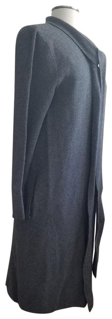 Preload https://item1.tradesy.com/images/grey-with-attached-scarf-cardigan-size-12-l-10438135-0-1.jpg?width=400&height=650