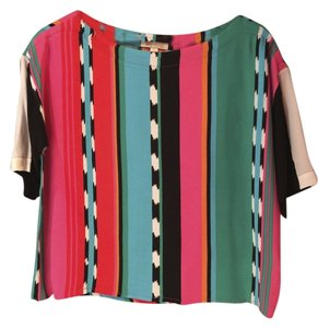 Ella Moss Top Multi Striped