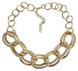 Gold Tone Large Chunky Thick Chainlink Necklace J1806 Summersale