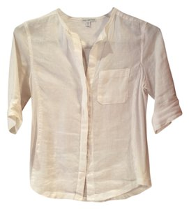James Perse Button Down Shirt Off White