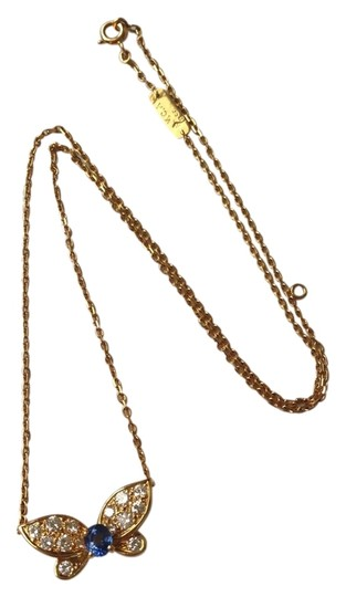 Preload https://img-static.tradesy.com/item/10438918/van-cleef-and-arpels-yellow-blue-diamond-sapphire-butterfly-18k-yg-necklace-0-1-540-540.jpg
