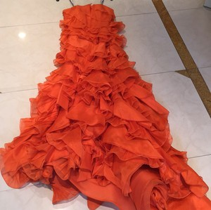 Oscar De La Renta Orange Dress