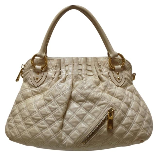 Item - Large Cecilia White Leather Tote