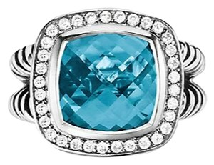 David Yurman DAVID YURMAN DIAMOND/BLUE TOPAZ RING RING