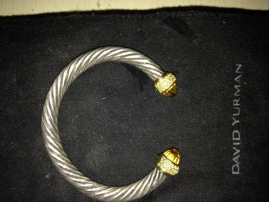 David Yurman David Yurman 7mm cable classics bracelet citrine 18k yellow gold and diamond