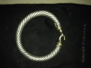 David Yurman David Yurman 7mm cable buckle bracelet with gold