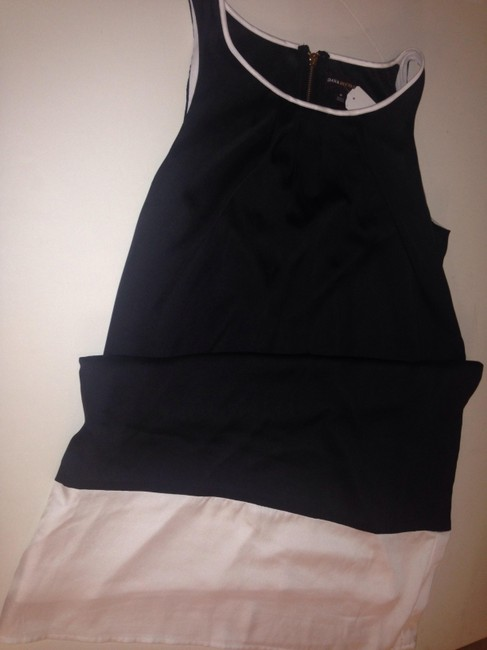 Dana Buchman Color Block Casual White Black Dress