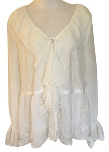 7 For All Mankind Top Ivory