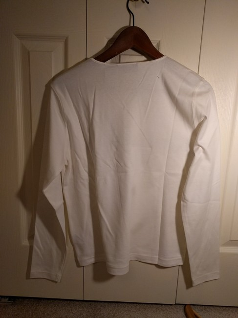 Liz Claiborne Rainbow T-shirt Long-sleeved T Shirt White