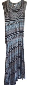 Max Studio short dress Black and teal stripes Striped Comfortable on Tradesy