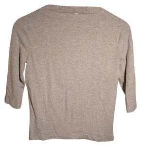 Laundry by Shelli Segal Boat Neck T Shirt Gray