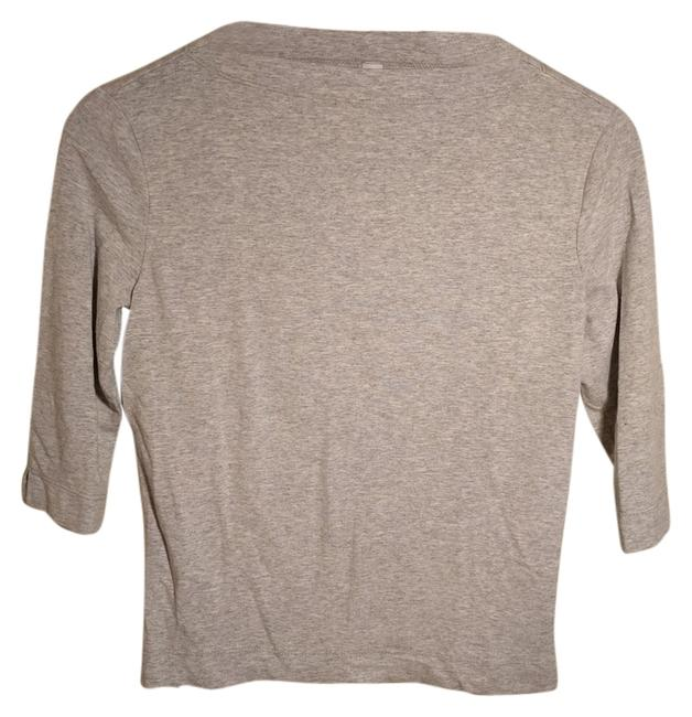 Preload https://item4.tradesy.com/images/laundry-by-shelli-segal-gray-neck-tee-shirt-size-8-m-10440163-0-1.jpg?width=400&height=650