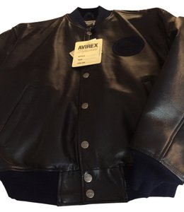 AVIREX Dark navy Leather Jacket